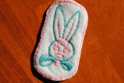 画像1: USAヴィンテージ★ウサギのワッペン