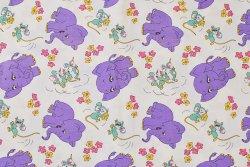 画像1: 楽しげなネズミと紫色のゾウ