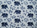 シンプルな象と木と花(青)