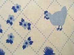 画像2: 70's★シンプルな鳥の生地(白)