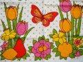 【未使用品】チョウチョとお花とフルーツのタオル