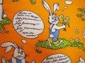 ドイツ語+ジャーマンウサギのファブリック