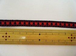 画像3: カッチリした印象の、紺×赤のチロルテープ