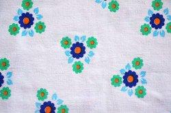 画像1: 爽やかなブルー×グリーン小花のピローケース