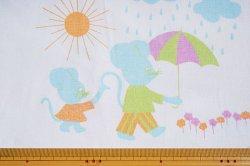 画像2: 天気雨の日の、お散歩ネズミ(水色)再入荷