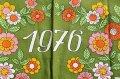 1976年◆踊る男女の布製カレンダー