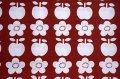 【未使用70's】並んだリンゴとお花のピローケース