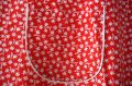 ドイツ70's★フィードサック調!赤地に白い小花のエプロン