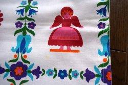 画像4: ドイツ70's★鳥や人のモチーフが可愛いカーテン