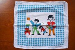 画像2: 子供ハンカチ◆お人形遊びvs積み木遊び