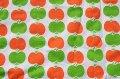 70's★オレンジと黄緑の縦列リンゴ(ファブリック)
