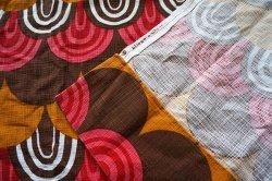 画像4: ドイツ70年代◆暖色系のウロコ模様カーテン