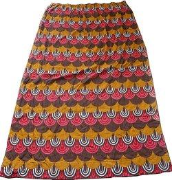 画像5: ドイツ70年代◆暖色系のウロコ模様カーテン