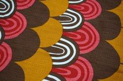 画像2: ドイツ70年代◆暖色系のウロコ模様カーテン