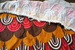 画像3: ドイツ70年代◆暖色系のウロコ模様カーテン