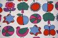 70'★可愛いモチーフが並んだタオル地ファブリック(大きめカット)