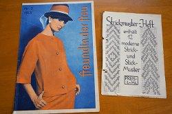 画像1: ドイツの古い洋裁型紙とステッチ図案のセット