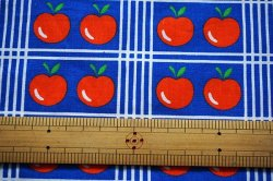 画像3: 70's★整列リンゴと洋梨のファブリック(はぎれ大)