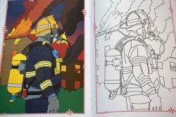 画像5: 【未使用品】チェコ◆可愛い塗り絵(警察や消防)