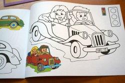 画像5: 【未使用品】チェコ◆可愛い塗り絵(色んな車)