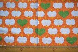 画像2: ドイツ70's★リンゴとハート♪(オレンジ系)大きなピローケース