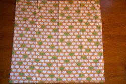 画像4: ドイツ70's★リンゴとハート♪(オレンジ系)大きなピローケース
