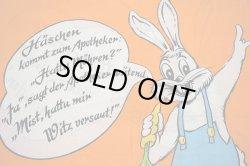画像1: ドイツ語+ジャーマンウサギのピローケース