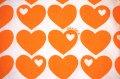 【グラジエラ】オレンジ×白のハート(ファブリック)