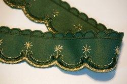 画像4: クリスマス風?緑地に金色刺繍のトリム