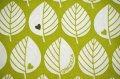 【グラジエラ】黄緑色の葉っぱ×ハート生地