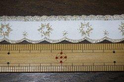 画像3: まるでホワイトクリスマス♪金色刺繍のトリム