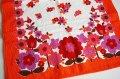 【未使用品】ドイツ70's◆お花模様のタオル