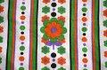 70's★大小カラフルなお花とドットのピローケース