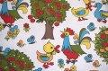 70's★色んな種類の鳥や動植物たちの生地(はぎれ大)