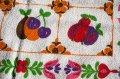 【未使用品】お花とフルーツづくしのキッチンタオル