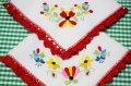 【2枚組】お花の刺繍のテーブルリネン