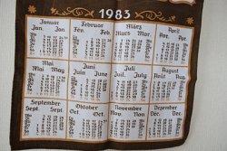 画像2: 旅の思い出クロスカレンダー1983年