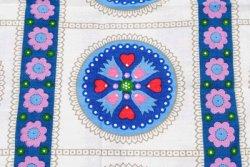 画像1: 青い丸と花とハート