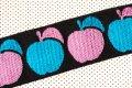 レトロな2色リンゴ(水色/ピンク)